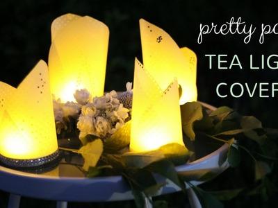 DIY Pretty Paper Tea Light Covers Tutorial   Inexpensive & Easy