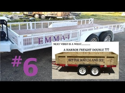 DIY Salvage Parts 16 x 6 Trailer Build, Double Axle for $600 (parts listed below)