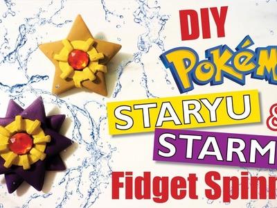DIY STARYU & STARMIE POKEMON FIDGET SPINNER | Polymer Clay Tutorial