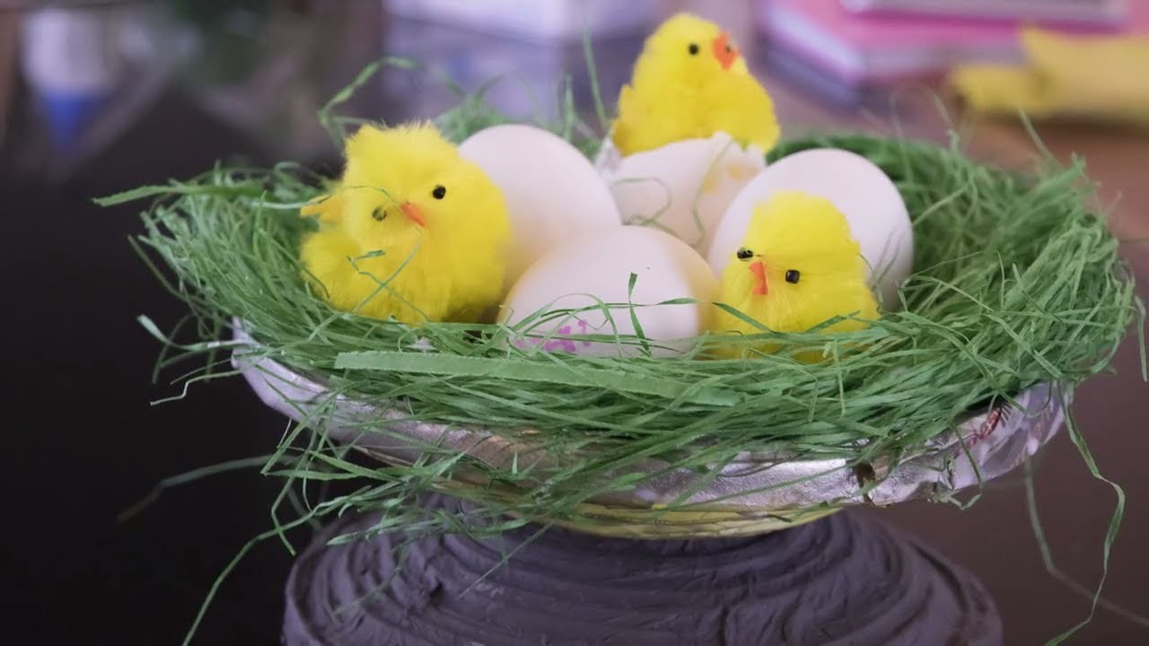 DIY Tutorial Craft Bird Nest Newspaper Colorful |HD|New|DIY