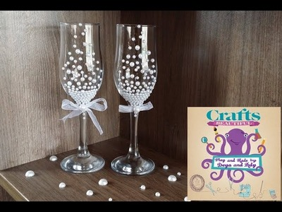 DIY Tutorial : Wedding glasses