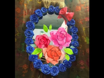 DIY-WALL HANGING MIRROR DECORATION.HOME DECOR.EASY ROOM DECORATIVE IDEAS.ART WITH ALIYA.