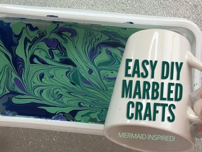 EASY MARBLED CRAFTS (MERMAID inspired handmade gifts!)