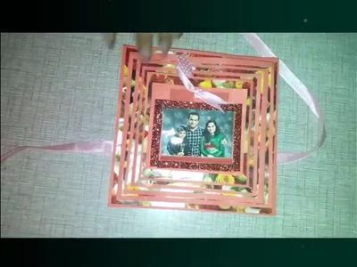 Handmade Pyramid card : Love theme