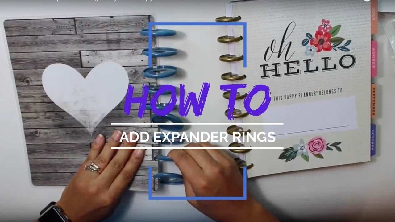How to Add Expander Rings to your Happy Planner