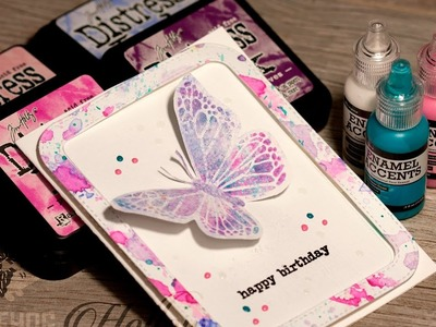How to: Concord & 9th Butterfly Beauty Part 2: Pixelated Butterfly Card Tutorial by Hedgehog Hollow