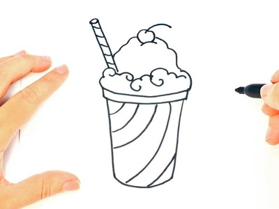How to draw a Smoothie | Smoothie Easy Draw Tutorial