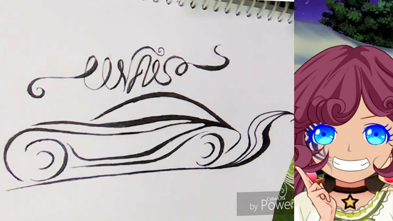 HOW TO DRAW CAR DESIGN | TATTOO DESIGNS ON PAPER FOR BEGINNERS CAR LOGO DESIGN
