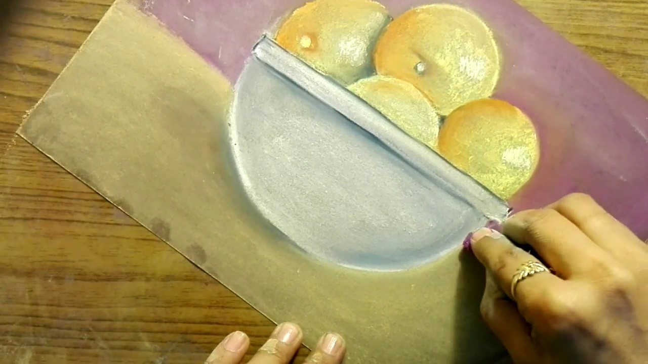 How to draw still life using soft pastels
