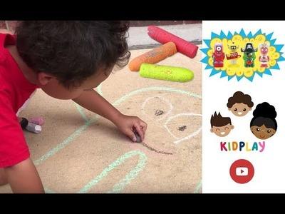 How to Draw Yo Gabba Gabba Sidewalk Chalk kidpl@y PART 1  KidplayTV