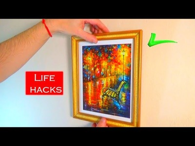 How to hang a picture on the wall LIFE HACKS