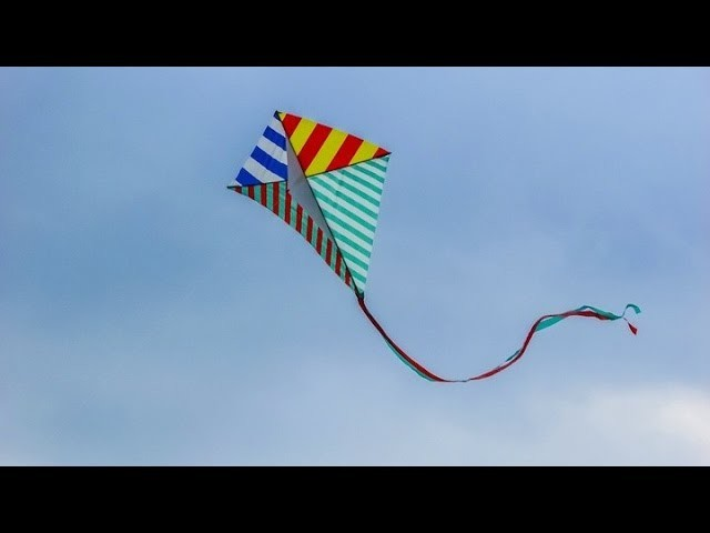 How to make a kite with bamboo and plastic bag very easy