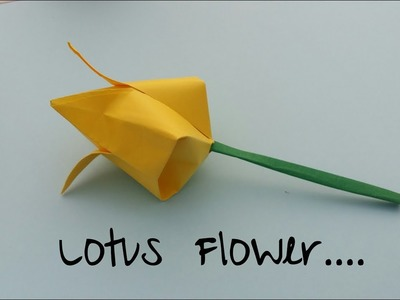 How to make a lotus flower with paper