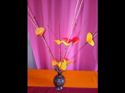 How To Make Flower With The Help Of Broom Stick.