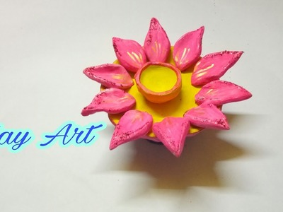 How to make hand made diya | clay art | clay school project