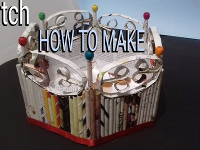 ????✔How to make newspaper basket || craft out of paper || best out of waste