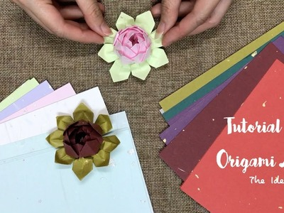 How to Make Origami Lotus Step by Step? | The Idea King Tutorial #10
