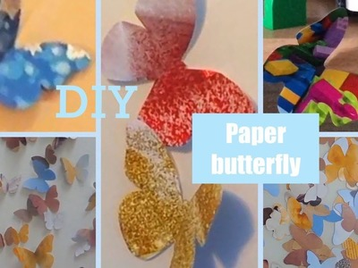 ???? How to make paper butterfly ????. Easy DIY craft. Wall decoration.