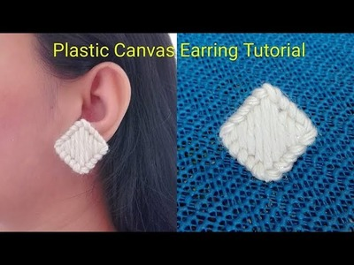 How to Make Plastic Canvas Earring. Tutorial