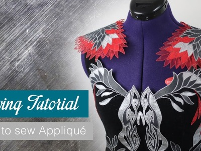 How to sew Appliqué (Sewing Tutorial for Katniss Everdeen) | Naoko Cosplay |
