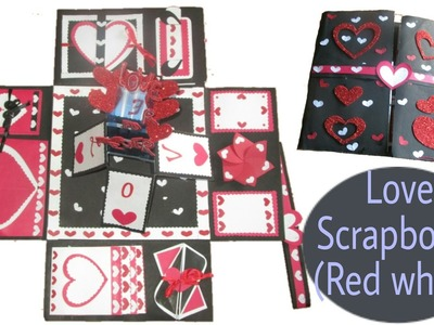 Love scrapbook for your special one. white Red edition