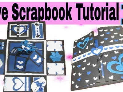 Love Scrapbook Tutorial Part - 1 | Valentine's Day Gift idea| How to make  a scrapbook easy tutorial