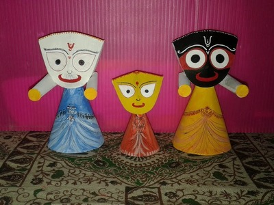 Making Jagannath Idol out of Paper