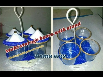 Multi storage boxes making with plastic bottle | Useful for multi purpose storage
