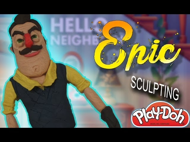 *NEW* DIY PLAY DOH HOW TO MAKE HELLO NEIGHBOR EPIC !!