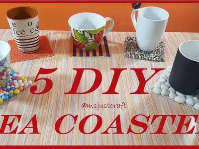 TOP 5 DIY TEA COASTER | DRINK COASTER | msjustcraft | 5 minute craft