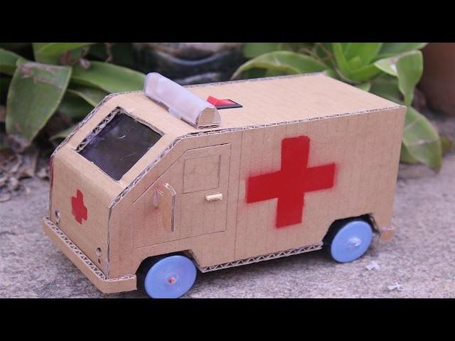 Wow! Amazing RC ambulance Car   how to make a mini ambulance car