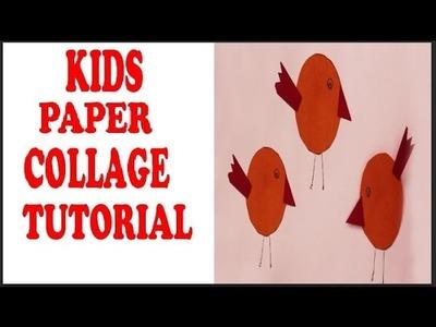 Bird Collage Technique For Beginners - Kids Collage Tutorial - Kala Krafts