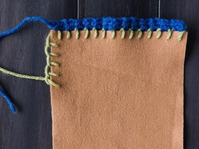 Crochet an Edge on Fabric