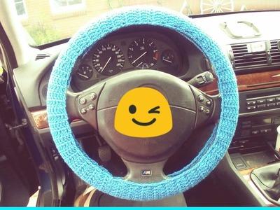 Crochet Steering Wheel Cover (super easy)