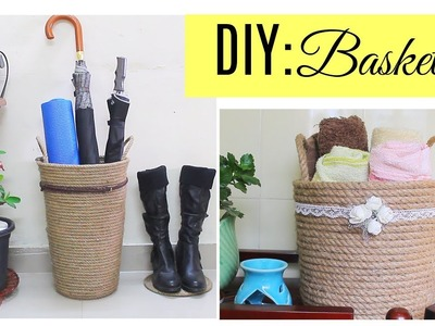 Diy Basket for home decor. storage baskets for bathroom and outdoor accessories