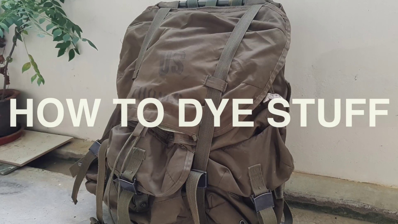 DIY | How to dye stuff : Backpacks and shoes