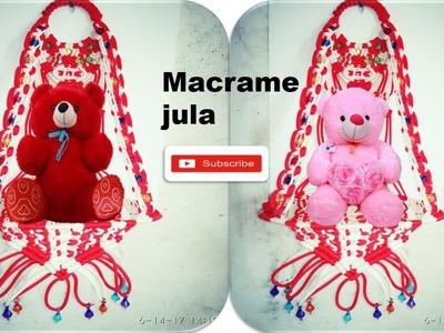 DIY# how to make macrame jhula 2017