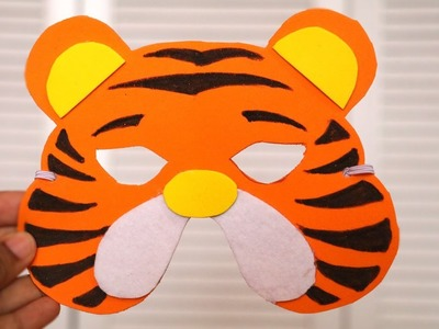 DIY Mask |  How to make Tiger Mask for kids | DIY Birthday Gifts | Little Crafties
