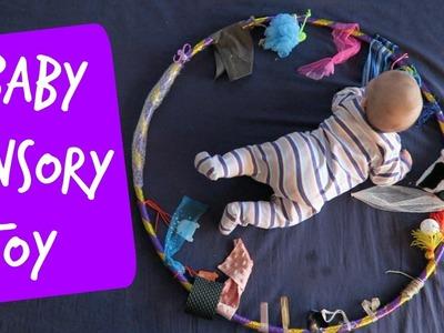 DIY Sensory Toy Hula Hoop | Easy Baby Sensory Play | Tummy Time Toy