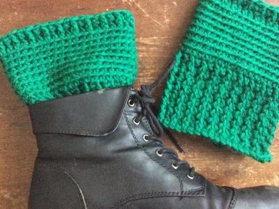 Easy Basic Crochet Boot Cuff