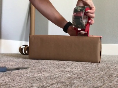 HOW TO: cheaply & easily MAKE YOUR OWN PACKAGE using brown paper to mail. ship! SAVE $$$ on boxes!