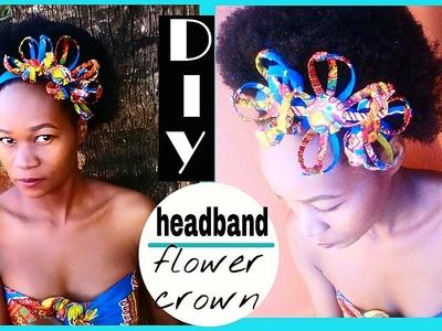 How-to DIY Flower Headband. Flower crown Dashiki African print