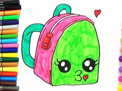 How to draw a Cute School Bag - Cute and Easy | BoDraw