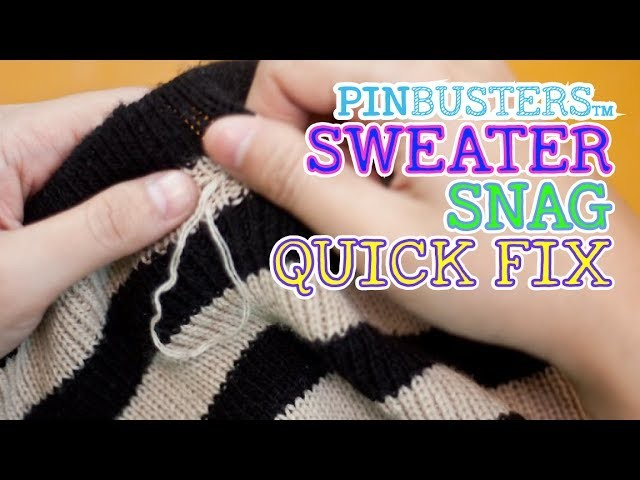 How To Fix A Sweater Snag With A Hair Pin. DOES IT WORK?