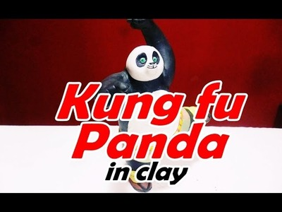 How to make kung fu panda in clay - como hacer a kung fu panda de plastilina