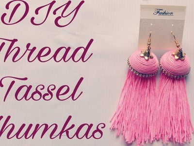 Making Silk thread tassel earrings jhumka tutorial - how to make earring at home