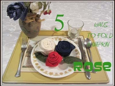 Napkin Folding: 5 Ways to Fold a Napkin Rose