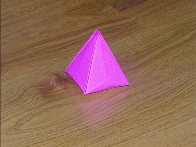 Origami : Paper Pyramid ( very easy and seamless ) : DIY Crafts for kids. Papieren piramide
