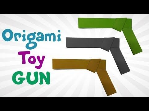 Origami Toy Gun For KIDS - DIY How To Make Paper Toy Gun Step By Step- Easy Origami Gun Tutorials