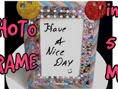 PHOTO FRAME WITH SILVER FOIL. IDEA FOR KID'S SCHOOL CRAFT. DIY